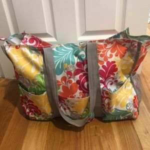 Thirty-one Zip-Top Organizing Utility Tote Island